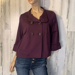 CAbi Plum Button Up Jacket